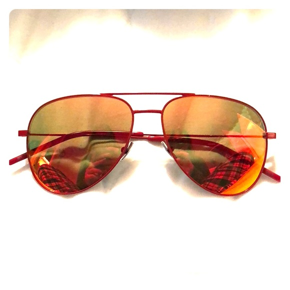230d830cad1 Luxury designer red frame aviators. M 5aca5401a4c485904287a6ca. Other  Accessories you may like. Saint Laurent Sunglasses